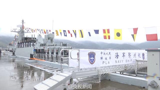 Китайский корвет Ezhou (бортовой номер 513) Tип 056