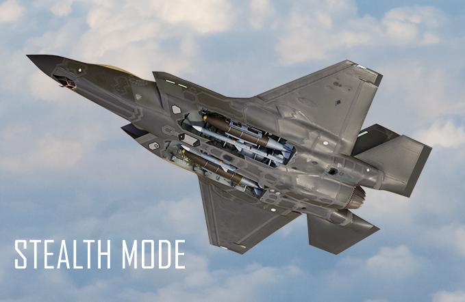 F-35 в режиме стелс.