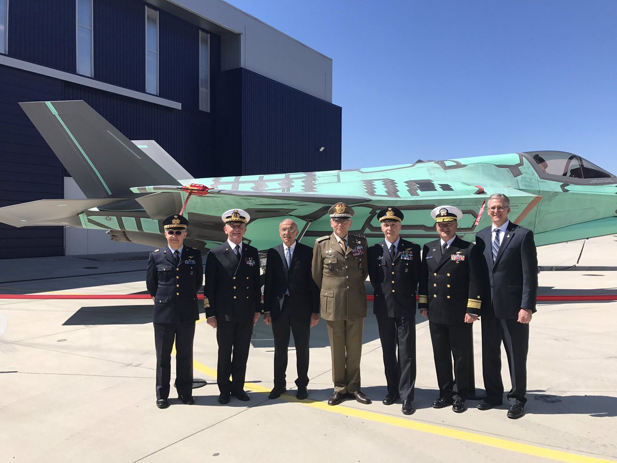 First F-35B STOVL for the @ItalianNavy rolled out today at Cameri FACO. It's also the first assembled outside the US.