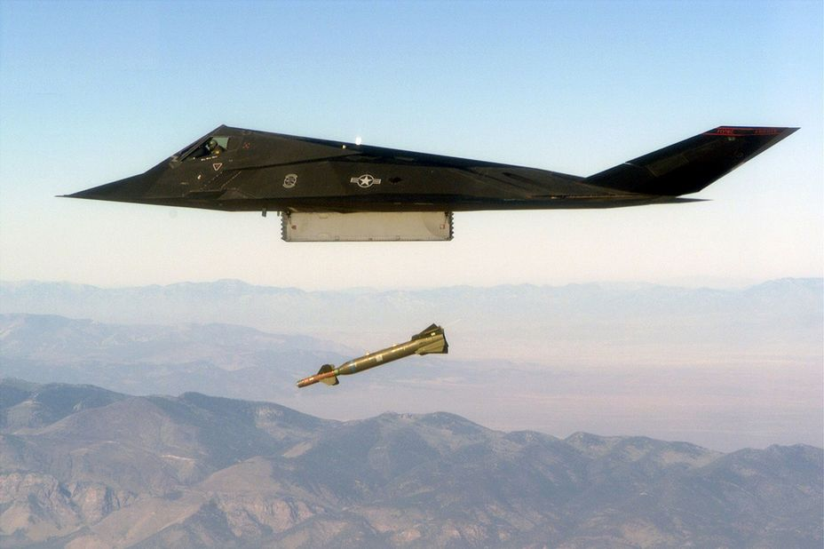 Ударный самолёт F-117A.