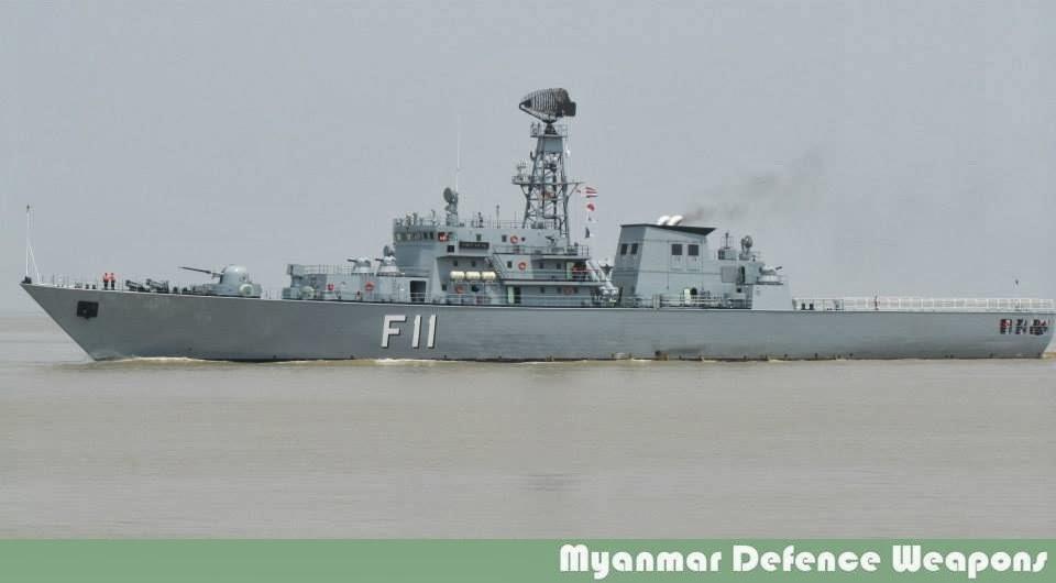 Мьянманский фрегат F 11 Aung Zeyа, оснащенный северокорейскими системами вооружения.