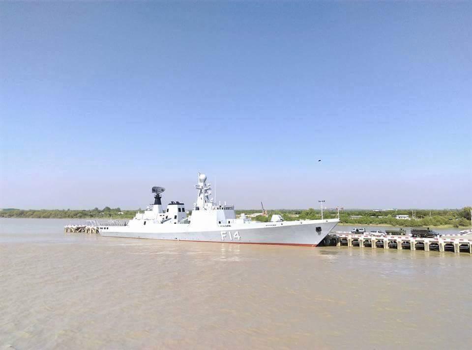 Новый фрегат ВМС Мьянмы национальной постройки F 14 Sin Phyu Shin.