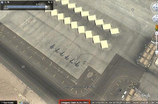 F-22 на базе в ОАЭ.