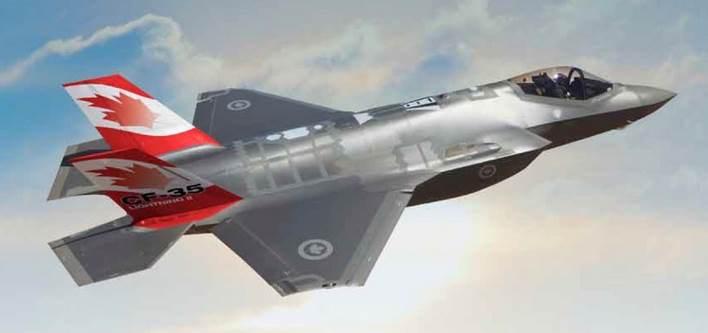 Рисунок канадского истребителя F-35A.