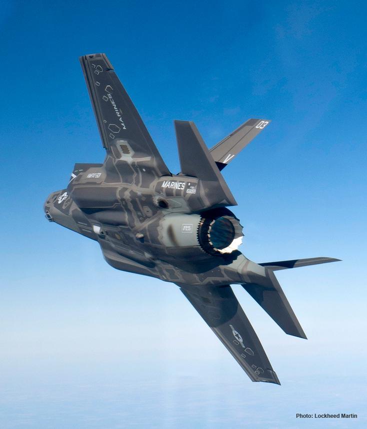 F-35B в полете.