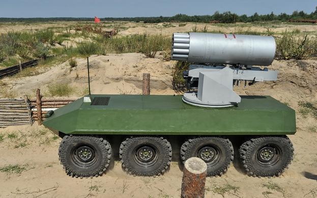 """Украинский ракетный комплекс на базе беспилотной платформы """"Фантом-2""""."""