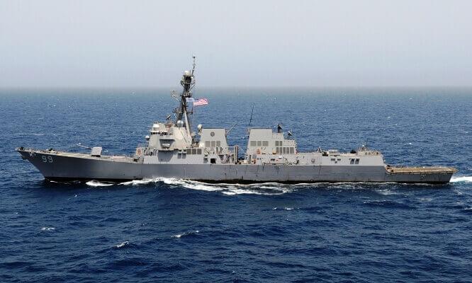 Эскадренный ракетный миноносец USS Farragut DDG-99.