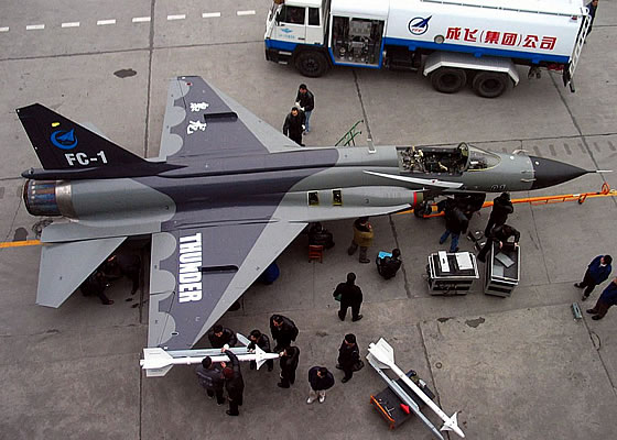 Истребитель FC-1/JF-17 «Тандер».