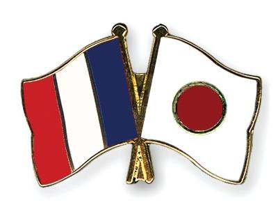 Флаги Франции и Японии