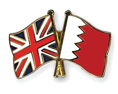 Флаги Великобритании и Бахрейна.