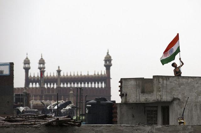 Флаг Индии в Нью-Дели. Архивное фото