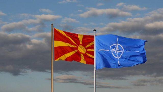Флаги Македонии и НАТО