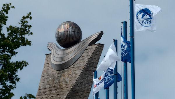 Флаги Международного военно-морского салона в Санкт-Петербурге. Архивное фото