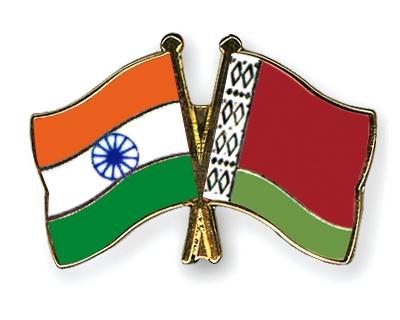 Флаги Индии и Беларуси