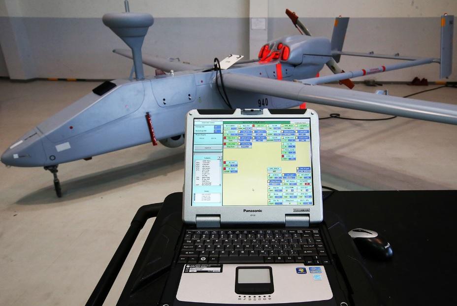 Беспилотный летательный аппарат «Форпост» (IAI Searcher Mk 2) сборки АО «Уральский завод гражданской авиации».