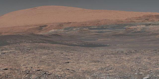Фотография поверхности Марса, сделанная марсоходом Curiosity