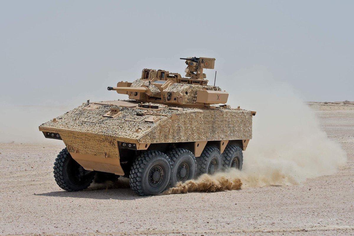Проходивший испытания в Катаре в 2016 году французский колесный бронетранспортер VBCI-2 с двухместной башней Nexter Systems T40M с 40-мм автоматической пушкой СTA Intermational 40 CTAS.