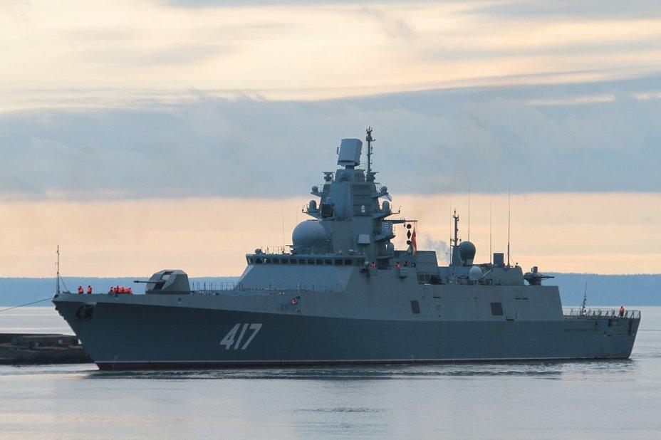 """Фрегат Северного фота """"Адмирал Горшков"""" отправился в Северодвинск на модернизацию"""