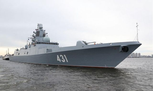 "Фрегат ""Адмирал флота Касатонов"" проекта 22350. Санкт-Петербург, август 2019 года"