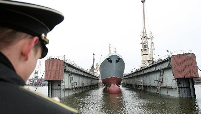 Головной фрегат ВМФ РФ Адмирал флота Сергей Горшков. Архивное фото.