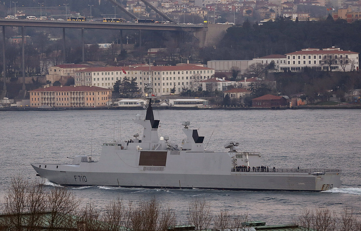 Фрегат-невидимка ВМС Франции La Fayette.