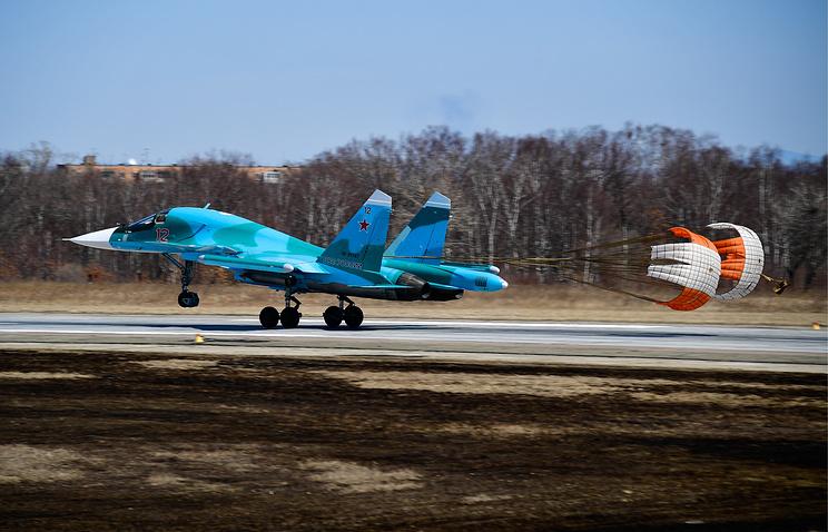 Фронтовой бомбардировщик Су-34.