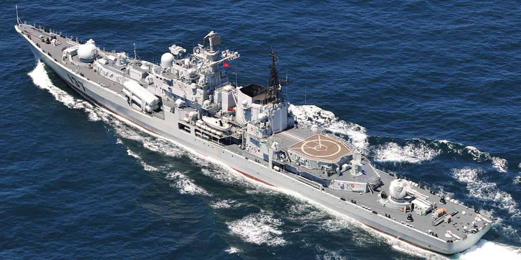 "Эскадренный миноносец проекта 956Э ""Фучжоу"" (福州 , Fuzhou) ВМС НОАК."