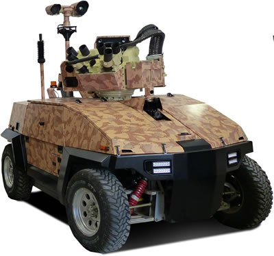 Автомобиль G-Nius с дистанционно управляемым боевым модулем производства Elbit Systems.