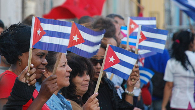 Демонстрация на улицах Гаваны. Архивное фото.