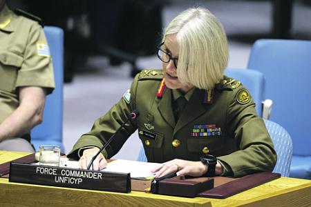 Генерал-майор Шерил Пирс возглавляет миротворческие силы ООН на Кипре. Фото с сайта www.unmultimedia.org