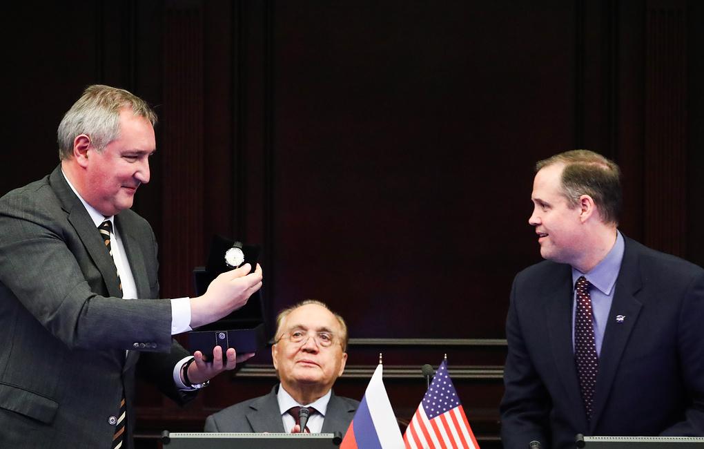 Рогозин и шеф НАСА Бранденстайн