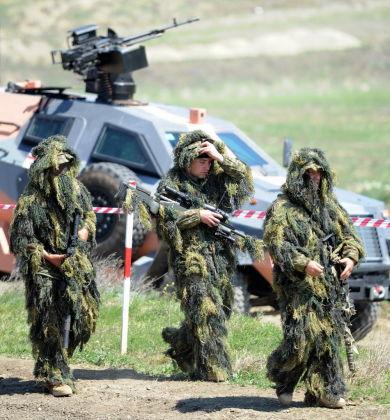 Снайперы грузинской армии