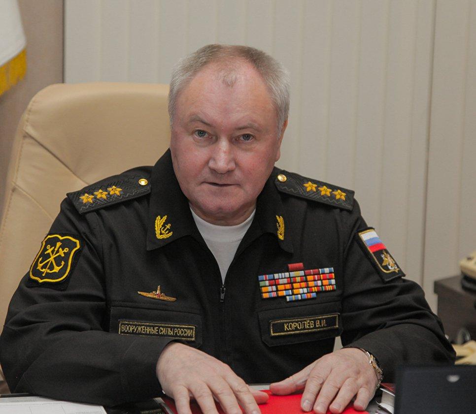 Главнокомандующий ВМФ России адмирал Владимир Королев на совещании в Адмиралтействе.