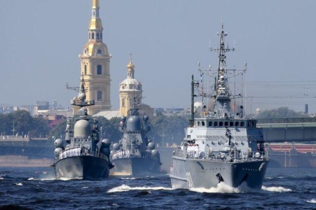 Главный военно-морской парад в Петербурге