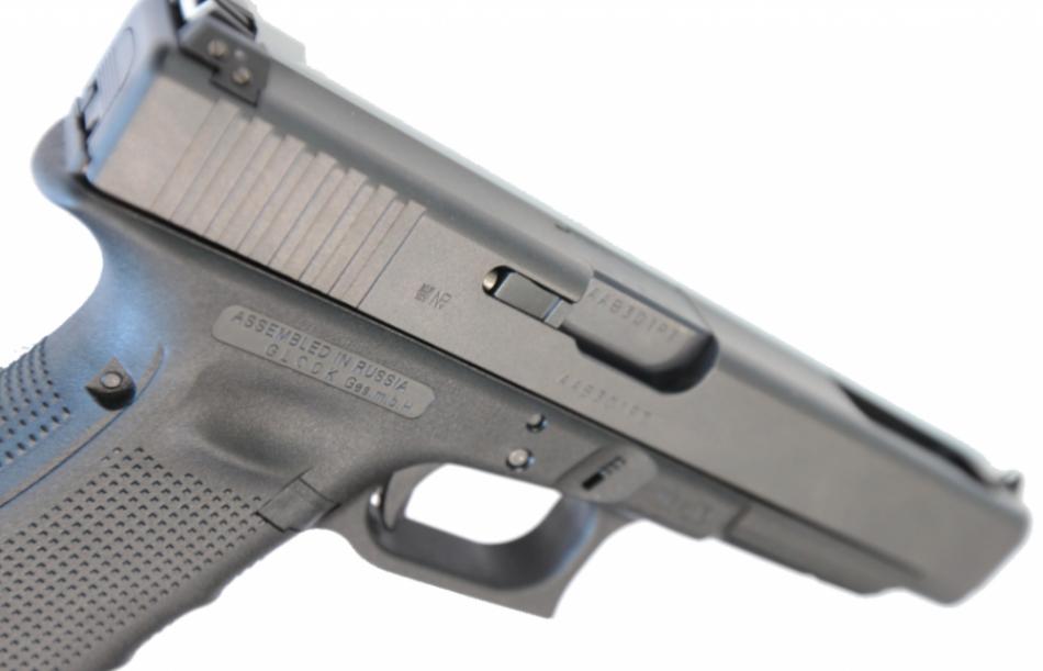 Пистолет Glock, собранный в России.