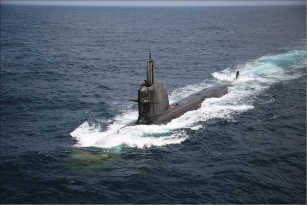 Головная построенная для ВМС Индии дизель-электрическая подводная лодка S 51 Khanderi типа Scorpene