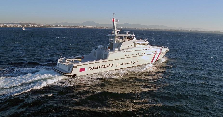 Головной большой сторожевой катер QC 901, построенный для береговой охраны Катара турецкой компанией Ares Shipyard по проекту Ares 150 Hercules разработки британской компании ВМТ.
