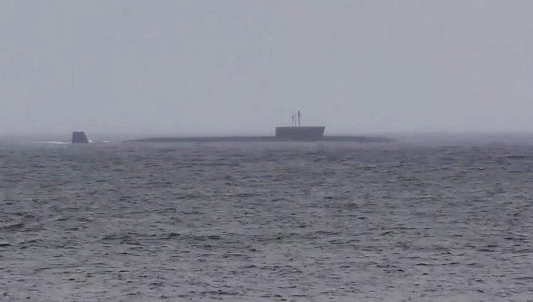 Головной корабль проекта 955 Борей - подводный крейсер Юрий Долгорукий. Архивное фото.