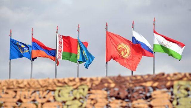 Государственные флаги стран-участниц ОДКБ