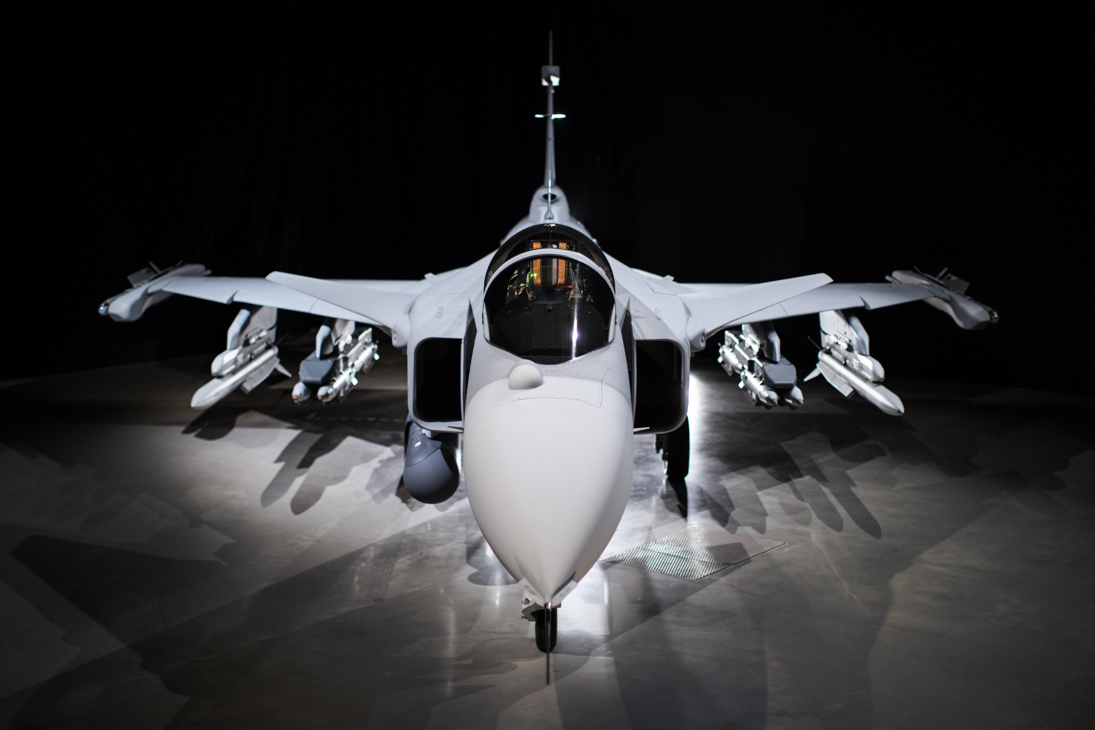 Обои истребитель, gripen, многоцелевой, Saab jas 39. Авиация foto 17
