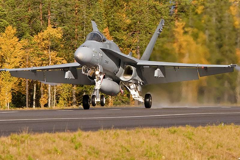 Многоцелевой истребитель Saab JAS 39 Gripen.