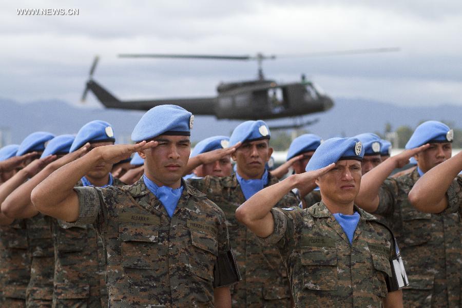 Военнослужащие ВС Гватемалы.