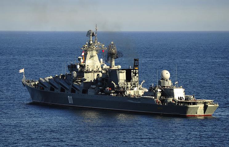 """Гвардейский ракетный крейсер """"Варяг""""."""
