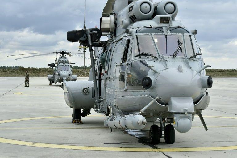 Транспортно-боевой вертолет Airbus Helicopters H225M Caracal ВВС Франции.