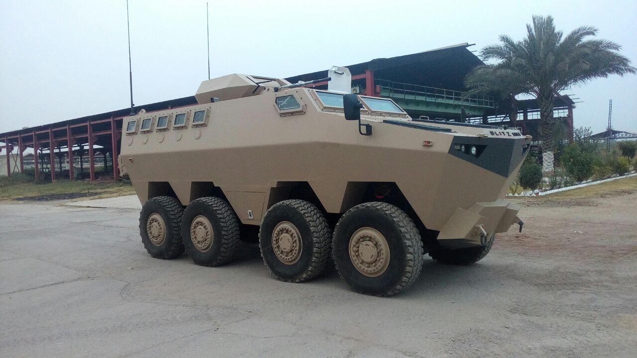 Первый опытный образец бронированной машины HAMZA пакистанской компании Blitzkrieg Defense Solution.