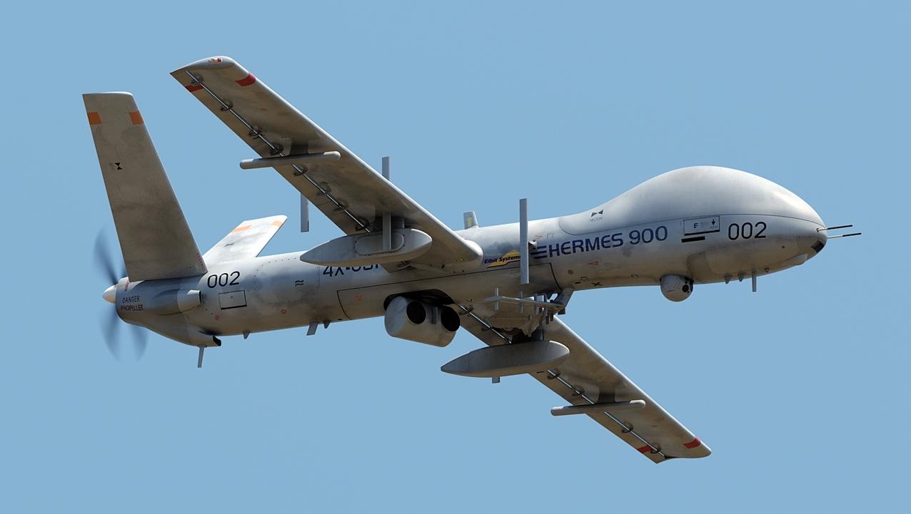 Всепогодный тактический БПЛА Hermes 900.