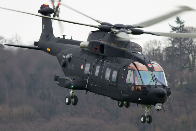 Первый вертолет AgustaWestland HH-101A Caesar, предназначенный для ВВС Италии.