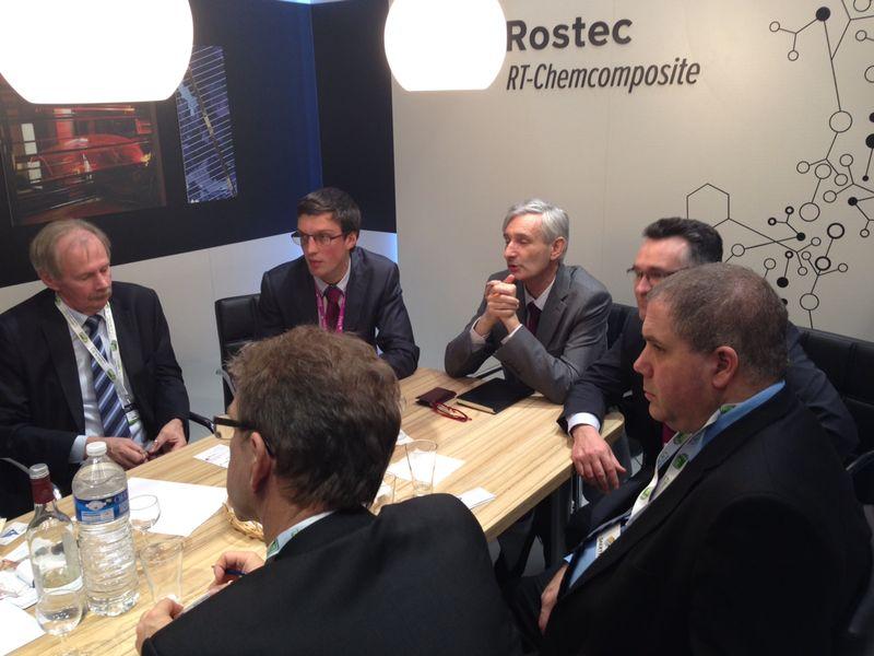 Переговоры «РТ-Химкомпозит» на выставке JEC Composite Show 2014.