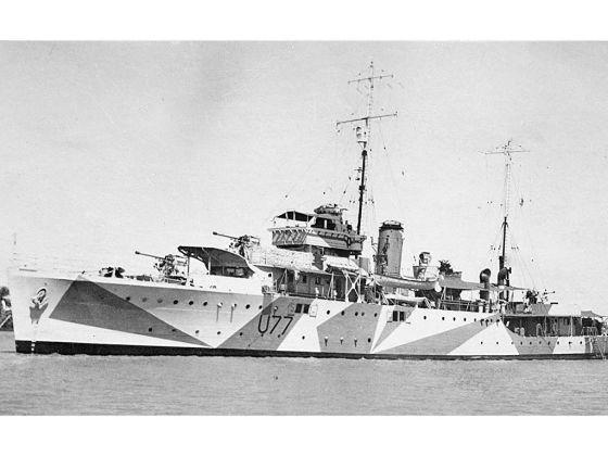 Корабль HMS Yarra