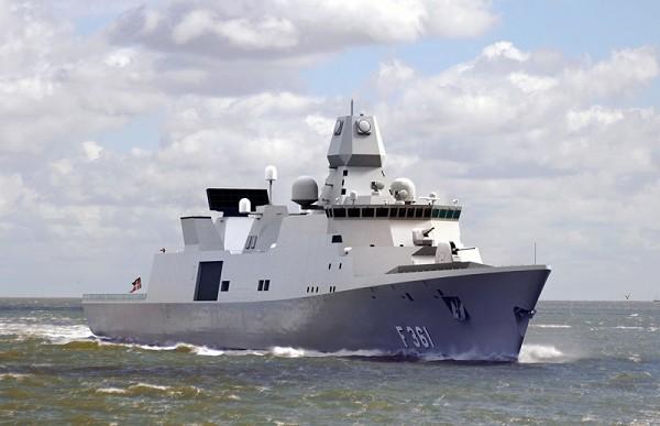 Фрегат класса Iver Huitfeldt Королевских ВМС Дании. Источник: Thales Group (Paris: HO.PA).